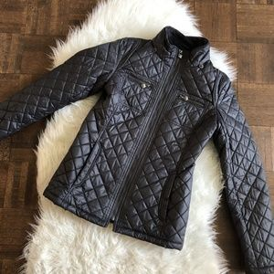 Laundry By Design XS Dark Gray Quilted Jacket